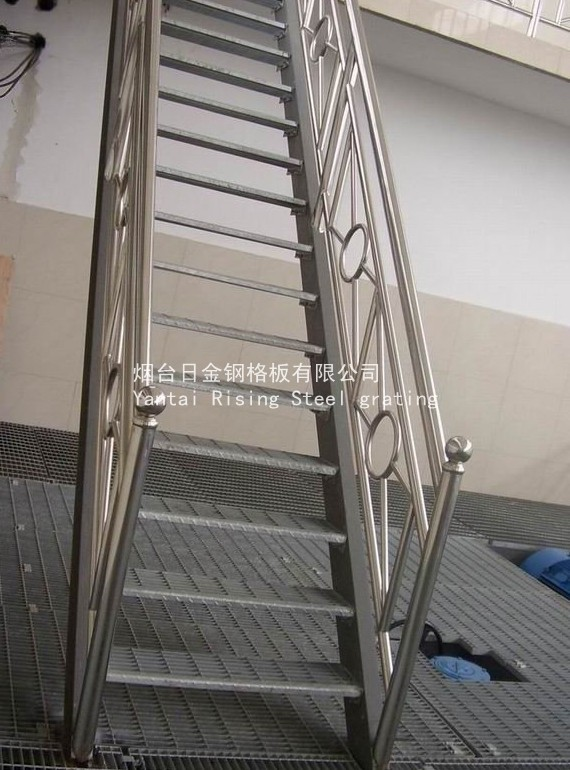 Carbon Steel Pipe Stair Handrail Yantai Rising Steel